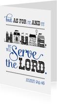 Religie kaarten - HEE Goodies bijbel tekst Joshua 24 15