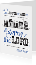 Christelijke woonkaart bijbeltekst Ik en mijn huis