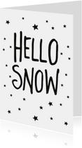 Kerstkaarten - Hello snow kerstkaart