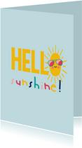 Hello sunshine - zomer kaart