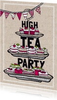 High tea party uitnodiging