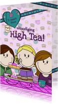 High Tea uitnodiging PARTY GIRLS