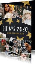 Hippe fotocollage nieuwjaarskaart hoogtepunten 2020