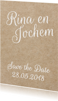 Hippe save the date - kraft look