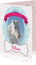 Hippe uitnodiging met paardje