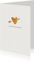 Hippe valentijnskaart met koperen hartje