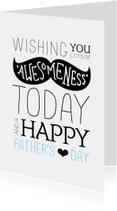 Hipster snor vaderdag kaartje