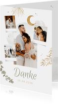 Hochzeits-Dankeskarte Fotocollage Arabian Vibes