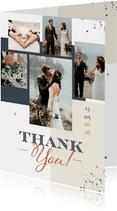 Hochzeitsdanksagung Fotocollage grafisch