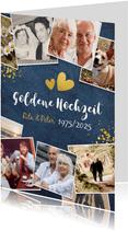 Hochzeitsjubiläum-Einladung Fotocollage