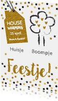 Housewarming huisje boompje feestje goud
