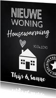 Housewarming krijtbord