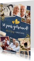 Huwelijksjubileum fotocollage uitnodiging feest 50 jaar
