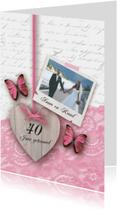 Huwelijksjubileum romantisch foto hart vlinders