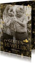 Huwelijksjubileum uitnodiging gouden huwelijk confetti