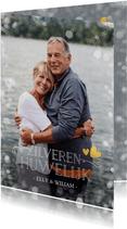 Huwelijksjubileum uitnodiging zilveren huwelijk 25 jaar