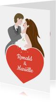 Felicitatiekaarten - Huwelijkskaart - KO