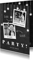 Jubiläumskarte Hochzeitstag Kreidetafel mit Fotos