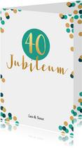 Jubileum 40 jaar met confetti - BK