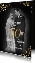 Jubileum 50 jaar getrouwd vroeger en nu