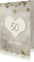 Jubileumkaarten - Jubileum 50 jaar goud confetti