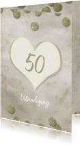 Jubileum 50 jaar goud confetti