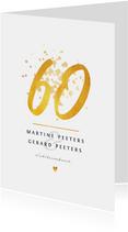 Jubileum 60 jaar stijlvol en klassiek met goud