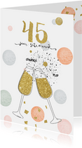 Jubileum huwelijk 45 - confetti