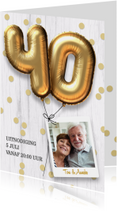Jubileum huwelijk uitnodiging 40 jaar
