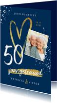 Jubileum uitnodiging 50 jaar goud hart foto's spetters