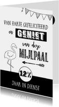 Jubileumkaarten - Jubileumkaart 12,5 jr in dienst