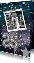 Jubileumkaart 25 jaar getrouwd confetti