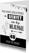 Jubileumkaart 40 jaar in dienst