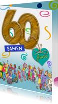 Jubileumkaart uitnodiging feest 60 jaar samen