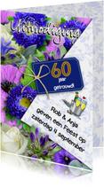 Jubileumkaart voor een echtpaar dat 60 jaar samen is