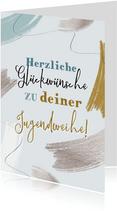 Jugendweihe Glückwunschkarte Pinselstriche