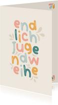 Jugendweihe Karte Glückwunsch Typografie