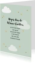 Kaart met kinderversje, aanpasbare kleur en tekst