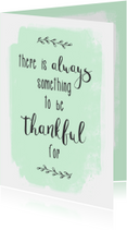 Kaart Thankful - WW