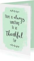Kaart Thankful - WW