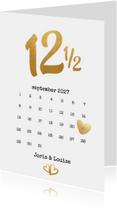 Kalender jubileum 12 1/2 jaar - BK