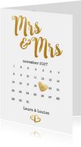 Kalender Mrs & Mrs goud - BK