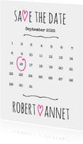 Kalender Save the Date wit- BK