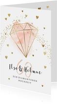 Karte Glückwunsch Diamantene Hochzeit