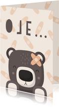 Karte Gute Besserung Bär mit Pflaster