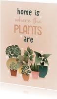 Karte Umzug 'Home is where the plants are'