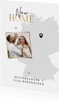 Karte Umzug mit Foto und Deutschlandkarte