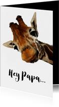 Karte Vatertag Giraffe