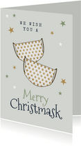 Karte Weihnachten Corona 'Merry Christmask'