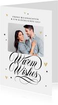 Karte Weihnachten mit Foto 'Warm wishes'